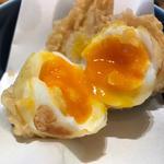 半熟煮卵天(讃岐うどん 志成)