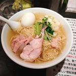 味玉入り塩生姜らー麵(塩生姜らー麺専門店 MANNISH (マニッシュ))