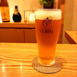 ゑびす生中(蕎や 月心 (つきごころ))