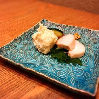 鶏ハムとポテサラ(蕎や 月心 (つきごころ))