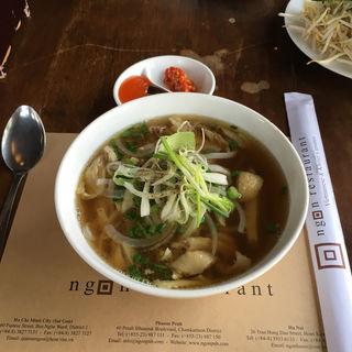 牛肉のフォー(Ngon Restaurant, Phnom Penh)