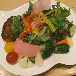 ゴロゴロ野菜の豆腐ハンバーグサラダ(ハタケカフェ (HATAKE CAFE))
