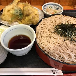 野菜天丼そばセット(そば処 志幸 )