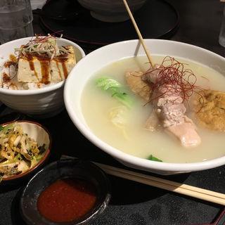 鶏だしラーメンとミニ丼セット(鶏だしおでん さもん )