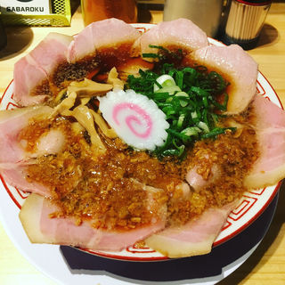 中華そばと半やきめし(サバ6製麺所 福島本店)