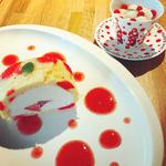 水玉ロールケーキ&あんみつ(フォーエバー現代美術館)