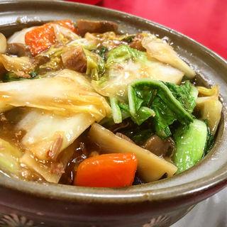 豚の角煮あんかけ土鍋ごはん(中国家庭料理 神洲之華 )