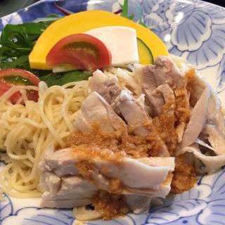 野菜たっぷり棒棒鶏冷麺(墨花居)
