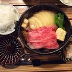 国産牛すき焼き定食(佰食屋 すき焼き専科 (ヒャクショクヤ スキヤキセンカ))