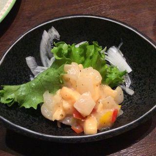 サーモンマリネ(志なのすけ お初天神店 (300円均一 海鮮居酒屋))
