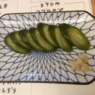 胡瓜の漬物(立呑み酒場やおたみ )