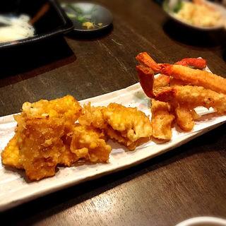 かにともろこしの天ぷら(和酒和食 恵比寿 黒帯 )