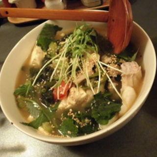 タラとトマト夏野菜のチゲ(立ち呑み クック オッソ オッセョ! )