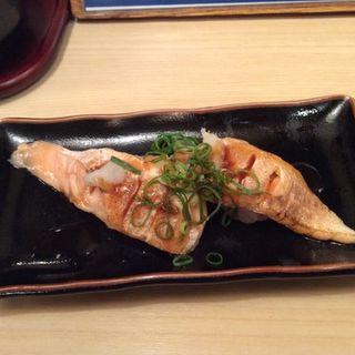 秋鮭のハラス炙り(魚心本店)