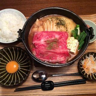 京風味噌鍋定食(佰食屋 すき焼き専科 (ヒャクショクヤ スキヤキセンカ))