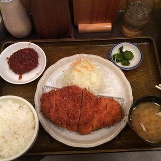 チキンカツ定食(だるま堂 (大阪とんかつ))