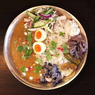 あかつ亭 冷製カレー(朝〆ほるもん専門店まるじゅう )