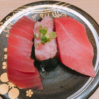 まぐろ三種盛り(もりもり寿司 mozoワンダーシティ店 )
