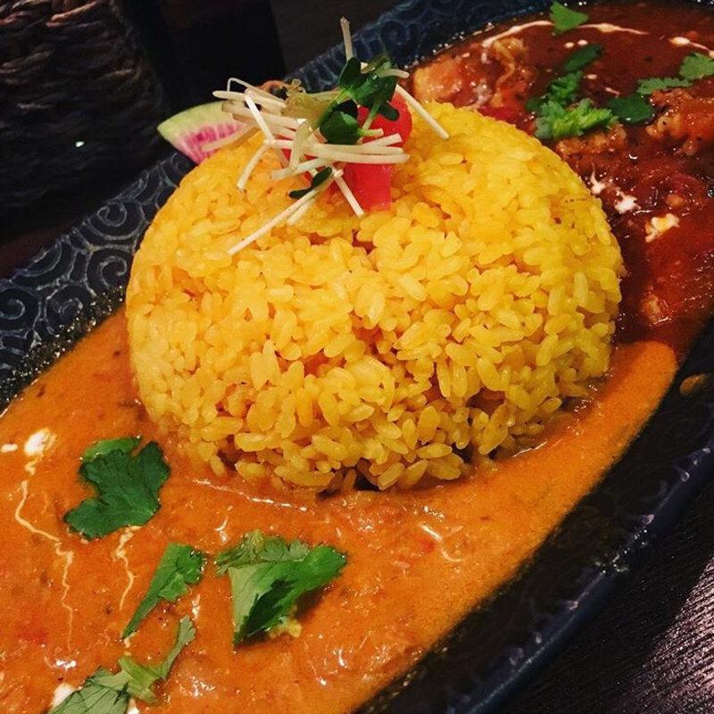 南インド マンゴーチキンカレー&豚肉と豆のサルサカレー