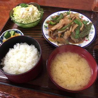 ピーマン肉いため定食(福徳食堂 )