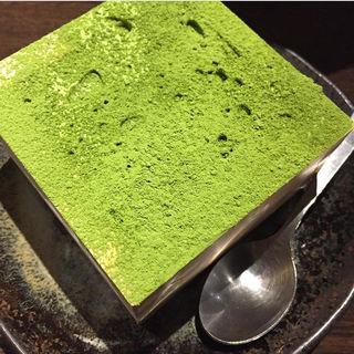抹茶の枡ティラミス(kawara CAFE&DINING 宇田川 (カワラ カフェアンドダイニング))