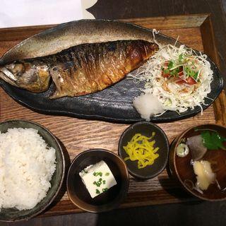 焼きサバ定食(とろさば料理専門店 SABAR 阪急三番街店)