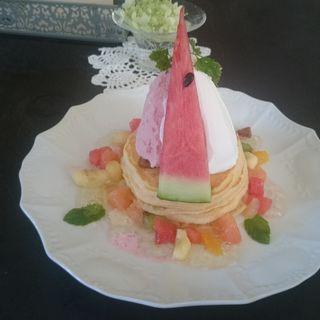 夏のフルーツ畑のパンケーキ(カフェアンジェ (Cafe Ange))