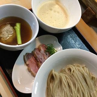 地元愛知鴨ともち大麦のつけ麺(ガチ麺道場 )