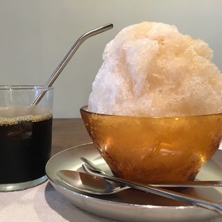 カキ氷 ジンジャー & 水出しコーヒー(喫茶クロカワ )