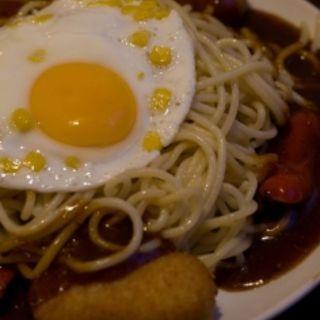 フリッテーネ(カニクリームコロッケ3コ・ウインナー・コーン) 麺を1.75倍増量 (GOLDEN PASTA (ゴールデン パスタ))