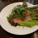 生ハムとパクチーのサラダ