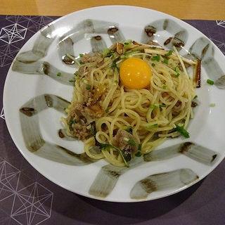 牛肉と野菜のすき焼き風和風パスタ (ぎをん椿庵 )