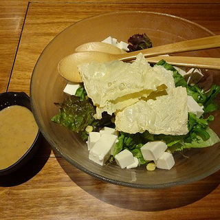 京湯葉と豆腐のグリーンサラダ (権之介 横浜西口店 )