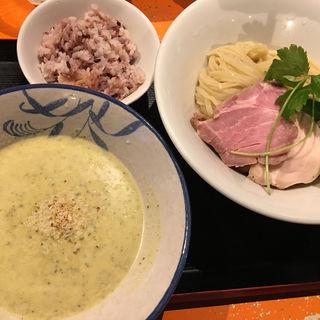ズッキーニの冷製ポタージュつけ麺(麺屋玉ぐすく )