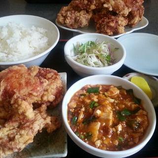ザンギ定食B+ザンギ(中国料理 布袋 (ホテイ))