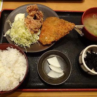 鳥唐揚げとキスフライ(寿司・居酒家 海福 天王町店 (うみふく))