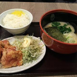 唐揚げデラックスセット(赤坂ラーメン 赤坂本店 (あかさからーめん))
