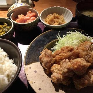 鶏の唐揚げ明太子風味定食 (やまや 豊洲店 )