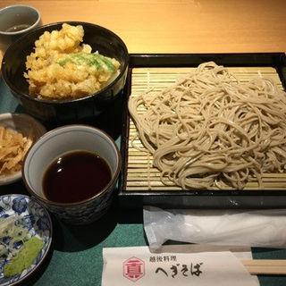 ミニ舞茸天丼、せいろ(一真 赤坂店 )