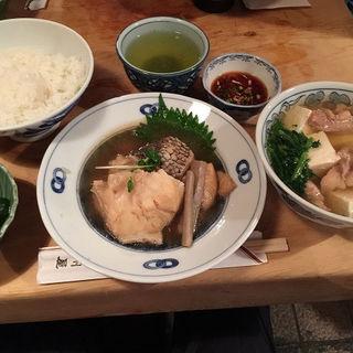 銀ムツ煮付とライス  とり豆腐付 (大衆割烹 三州屋 銀座店)