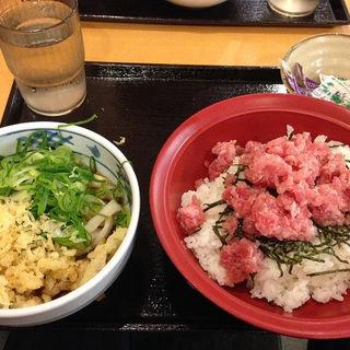 まぐろたたき丼セット(小うどん付)(瀬戸うどん 赤坂見附駅前店 )