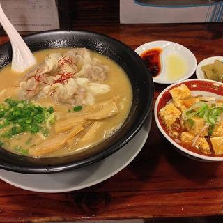 濃厚黒豚雲呑麺 ミニセット(広州市場 西新宿店 )
