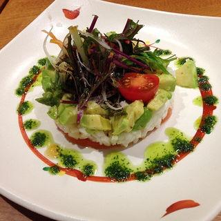 長芋とアボカドのサラダ(とんかつ 田 豊洲店 (トンカツ デン))