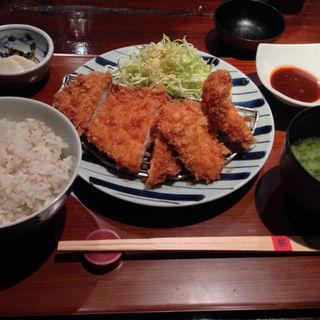 麓鶏のチキンカツ定食(赤坂うまや )