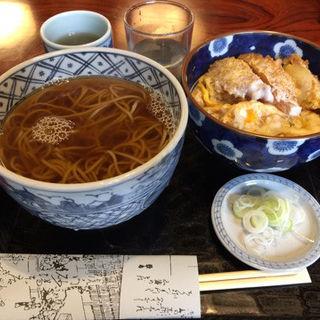 半かけとミニヒレカツ丼(大坂屋 砂場 本店 (おおさかや すなば))