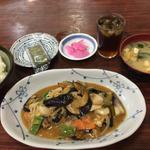 なす味噌炒め+定食