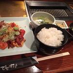 メガミックス定食(味噌ダレ)