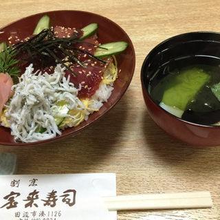 かつおと釜揚げしらすのづけ丼(宝来寿司 )