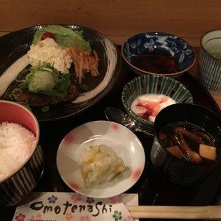 鴨肉のハンバーグ定食(赤坂 肴処 川しま )
