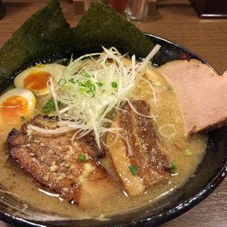 3種の肉盛り みそ(らーめん空 札幌ら~めん共和国店)